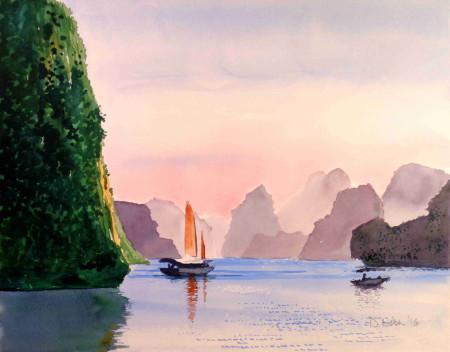 Halong Bay Dusk small
